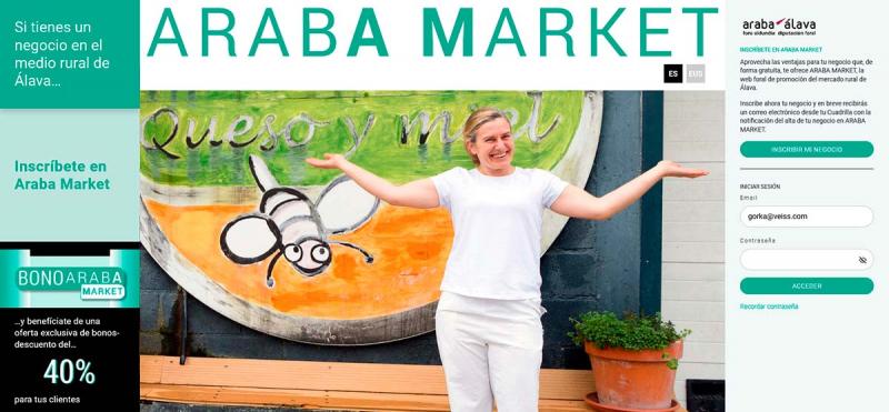 La Diputación Foral y las Cuadrillas de Álava impulsan la plataforma Araba Market